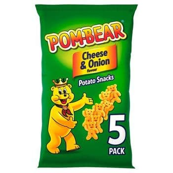 Pom-Bear Cheese And Onion 5 Pack