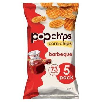 Popchips Corn Bbq 5X17g