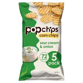 Popchips Corn Sour Cream & Onion 5X17g
