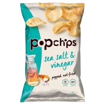 Popchips Sea Salt & Vinegar Chips 85G