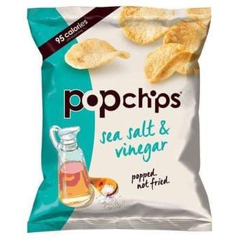Popchips Sea Salt & Vinegar Potato Chips 23G