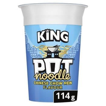 Pot Noodle King Chinese Chow Mein Snack 114G