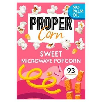 Propercorn Sweet Microwave Popcorn 3X70g