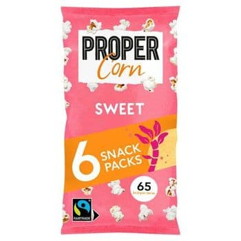 Propercorn Sweet Popcorn 6 Snack Packs