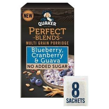 Quaker Blueberry Cranberry Guava Porridge 8 Pack 280G