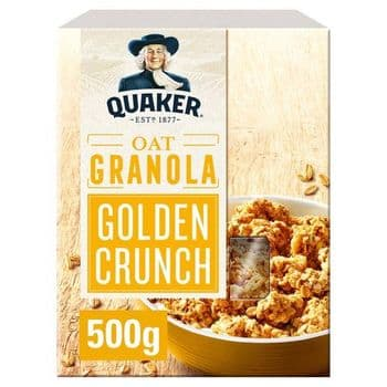 Quaker Oat Granola Golden Crunch 500G