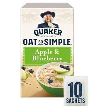 Quaker Oat So Simple Apple Blueberry Porridge 10X36g