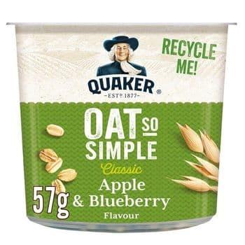Quaker Oat So Simple Apple & Blueberry Porridge 57G