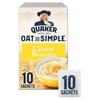 Quaker Oat So Simple Banana Porridge 10 Sachets 348G