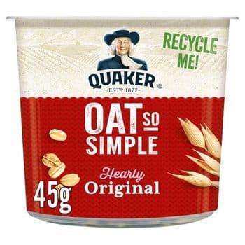 Quaker Oat So Simple Original Porridge Pot 45G