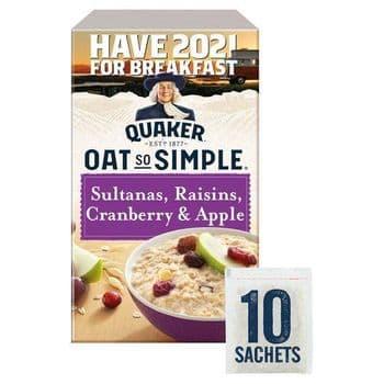 Quaker Oat So Simple Sultana Raisin Cranberry 10X38.5G