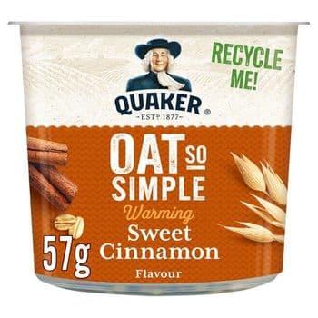 Quaker Oat So Simple Sweet Cinnamon Porridge 57G