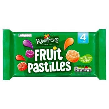 Rowntrees Fruit Pastilles Sweets 4 X 45G
