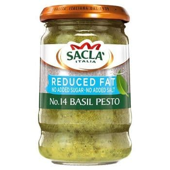 Sacla' Reduced Fat Basil Pesto 190G