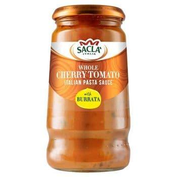 Sacla Whole Cherry Tomato & Burrata Pasta Sauce 350G