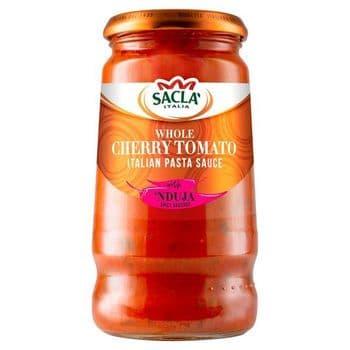 Sacla Whole Cherry Tomato & Spicy Nduja Sauce 350G
