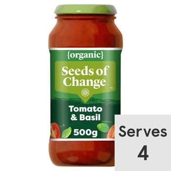Seeds Of Change Tomato & Basil Organic Pasta Sauce 500G