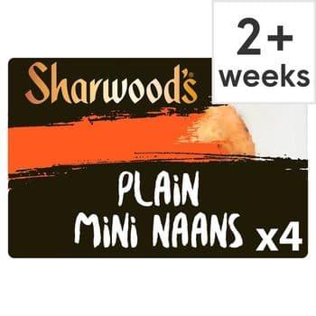 Sharwoods 4 Mini Plain Naan 260G