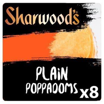 Sharwoods Ready To Eat Poppadoms 8Pk