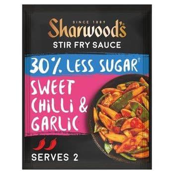 Sharwoods Stir Fry Sauce 30% Less Sugar Sweet Chilli Garlic 120G