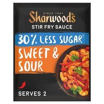 Sharwoods Stir Fry Sauce 30% Less Sugar Sweet & Sour 120G