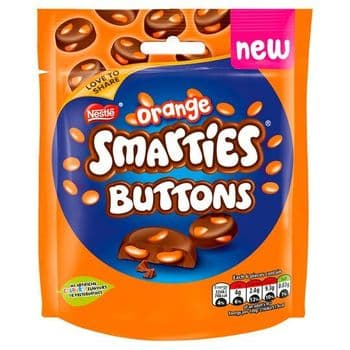 Smarties Chocolate Orange Buttons 85G