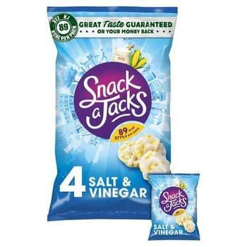 Snack A Jacks Salt & Vinegar 4 Pack 88G