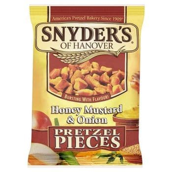 Snyders Honey Mustard & Onion Pretzel Pces125g