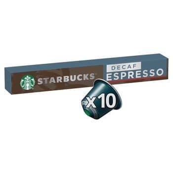 Starbucks Decaffeinated Espresso Coffee Pods 10 Pack 57G