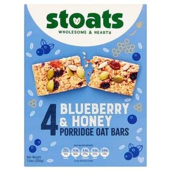 Stoats Blueberry Honey Porridge Bar Multipacks4x50g