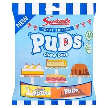 Swizzels Great British Puddings Chew Bars 150G