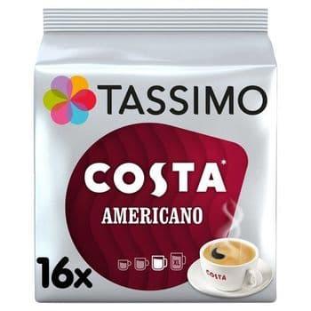 Tassimo Costa Americano Coffee Pods 16Serv 144G