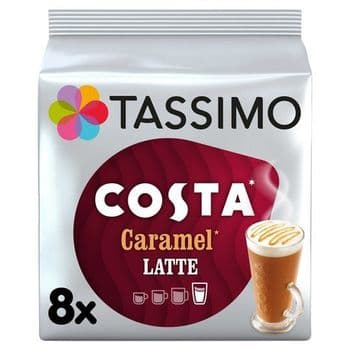 Tassimo Costa Caramel Latte Coffee Pods X 8