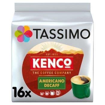 Tassimo Kenco Americano Decaffeinated Coffee Pods X16