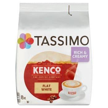 Tassimo Kenco Flat White Coffee 8 Pods 220G