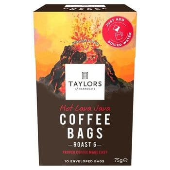 Taylors 10 Hot Lava Java Coffee Bags 75G