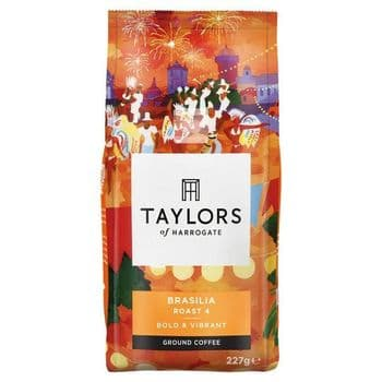 Taylors Cafe Brasilia Ground Coffee 227G