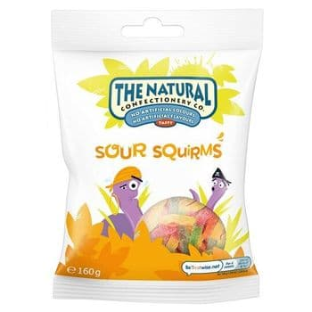 The Natural Confectionery Company Sour Gum Squirms 160G