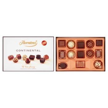 Thorntons Dark Continental Milk White Chocolates 142G