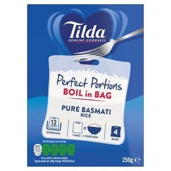 Tilda Boil In Bag Basmati Rice 4 X 62.5G
