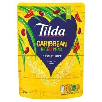 Tilda Caribbean Rice & Peas Steamed Basmati 250G
