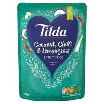 Tilda Coconut Chilli & Lemongrass Basmati Rice 250G