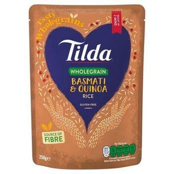 Tilda Steamed Brown Basmati & Quinoa 250G