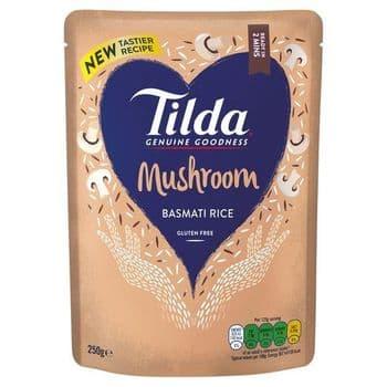 Tilda Steamed Mushroom Basmati Rice 250G