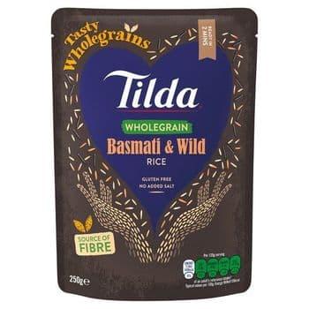 Tilda Steamed Wholegrain & Wild Basmati Rice 250G