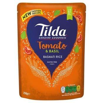 Tilda Sun Dried Tomato & Basil Basmati Rice 250G
