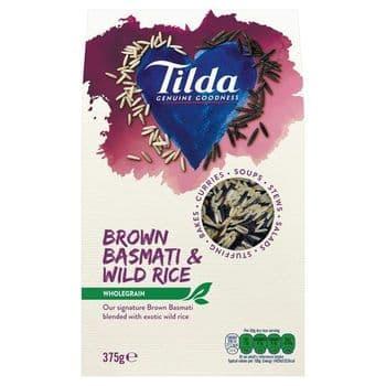 Tilda Wholegrain Basmati & Wild Rice 375G