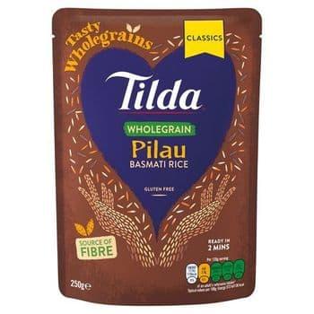 Tilda Wholegrain Pilau Basmati Rice Classic 250G