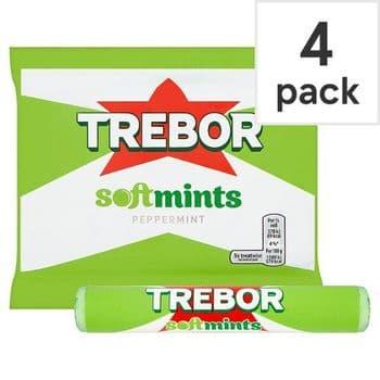Trebor Softmints Peppermint Mints 4 Pack 179G
