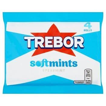 Trebor Softmints Spearmint Mints 4 Pack 179G